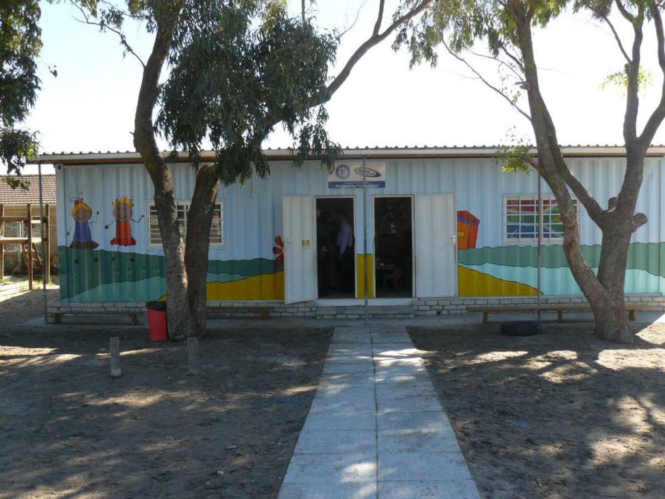 schools recycled containers