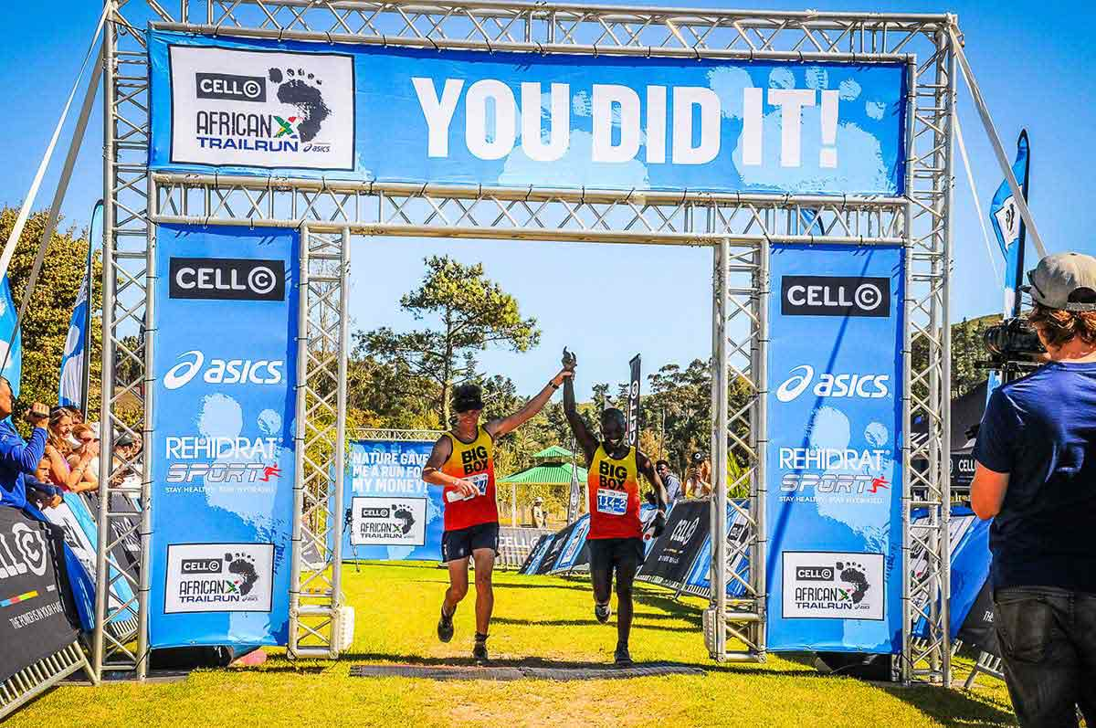 africanx trailrun finish