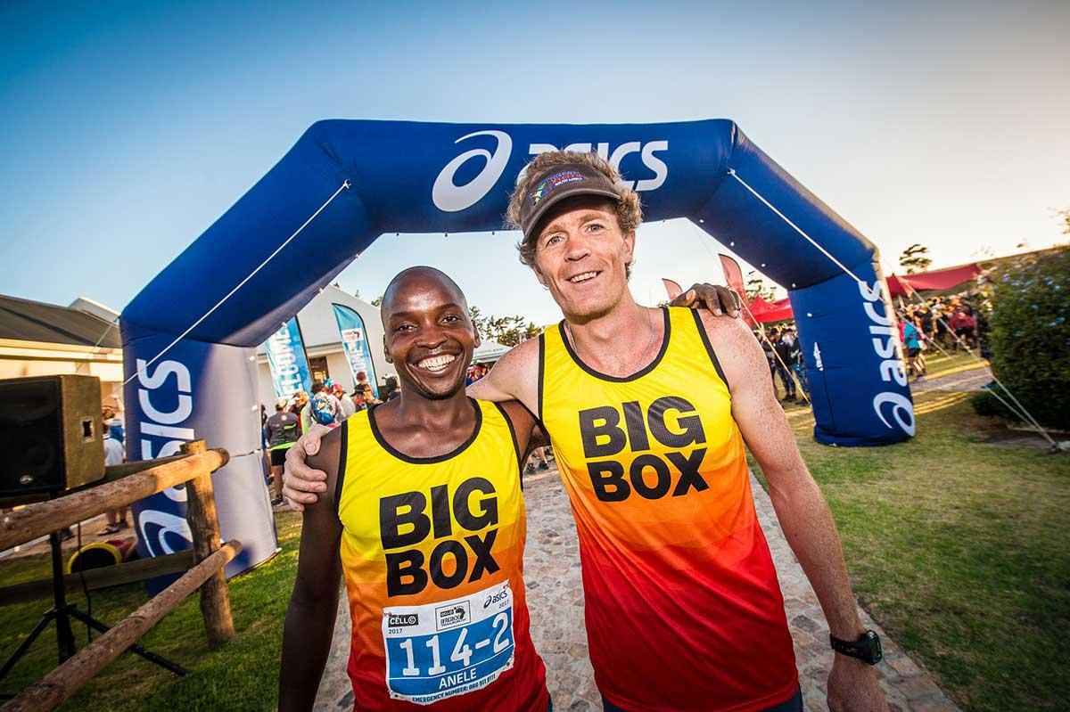 africanx trailrun team big box end finish