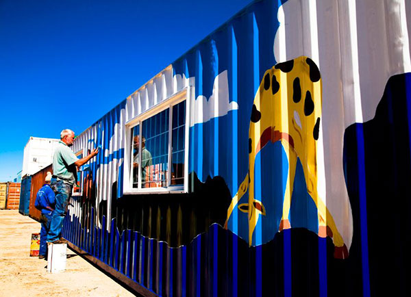 shipping container painted