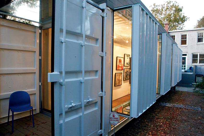 backyard gallery container art gallery
