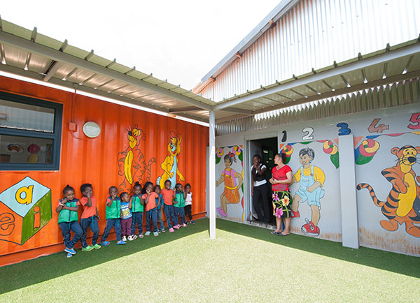 shipping container classroom