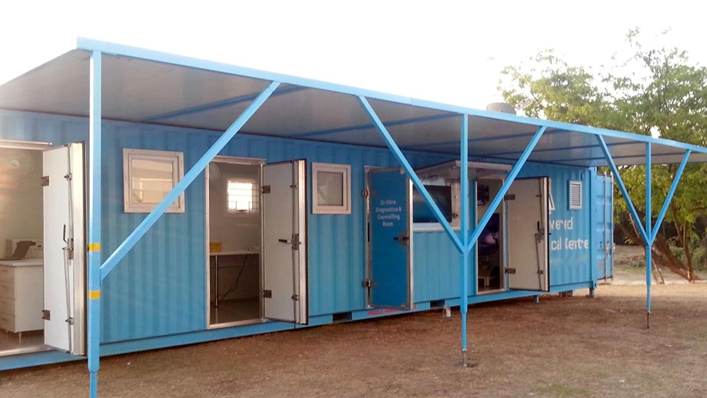 container mobile clinic expat rescue