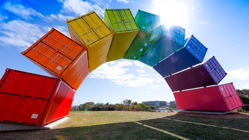 fremantle rainbow shipping container art