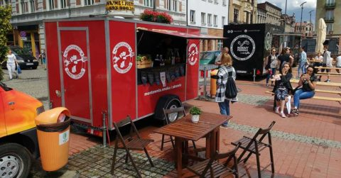 mobile food truck shipping container