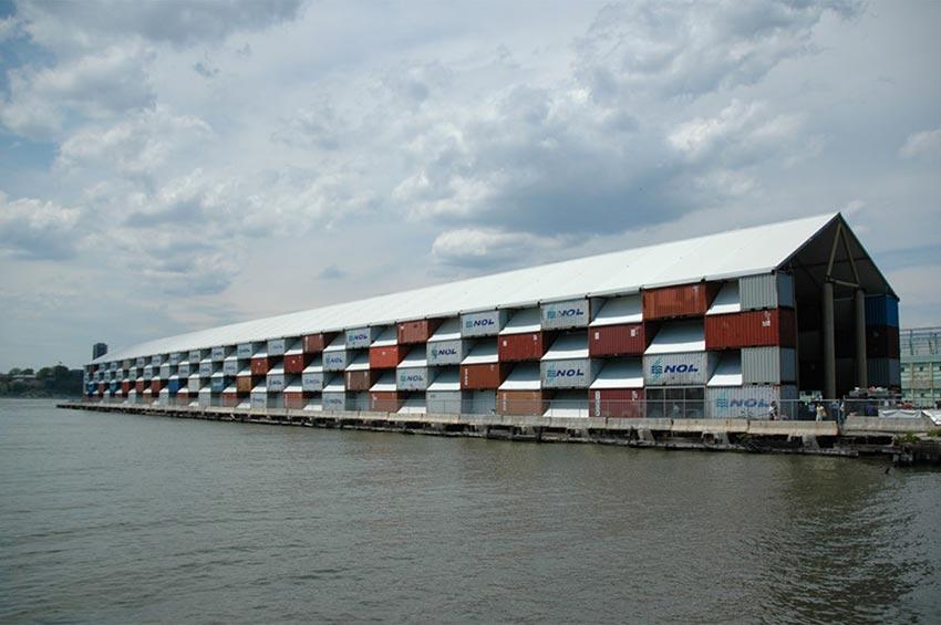 nomadic museum container art gallery