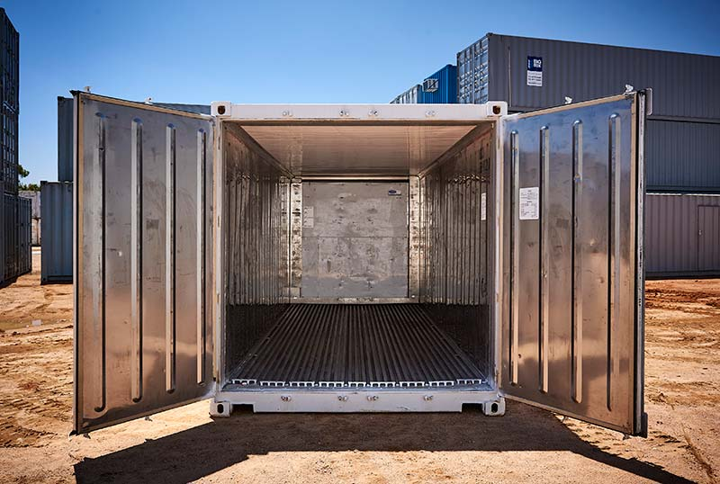 refrigerated containers inside