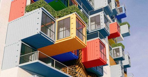 shipping container skyscrapers