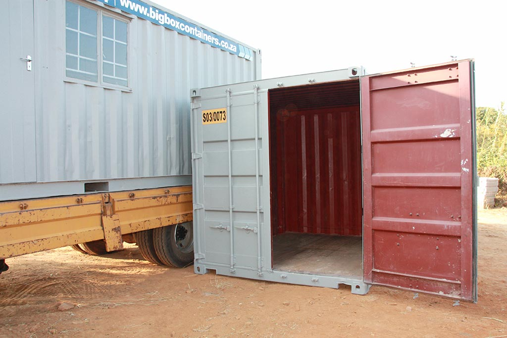 construction site security lockable container