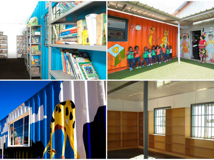Shipping Containers as School Libraries in SA