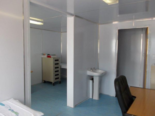 clinic shipping container conversion