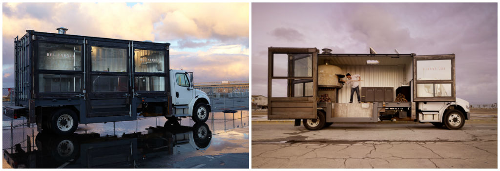 Del Popolo truck Uses of Shipping Containers
