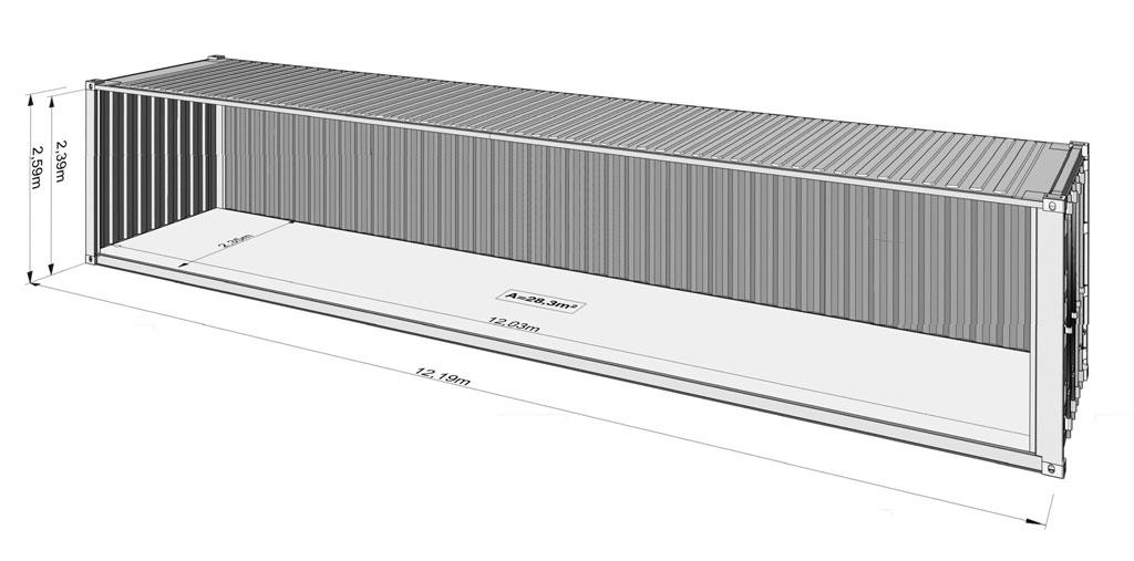 12 m container