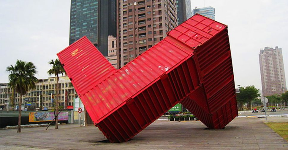 shipping container sculptures