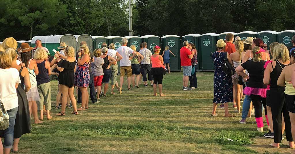 sport event queue toilets hire ablution facilities