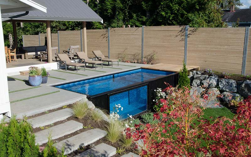 shipping container pools conversions
