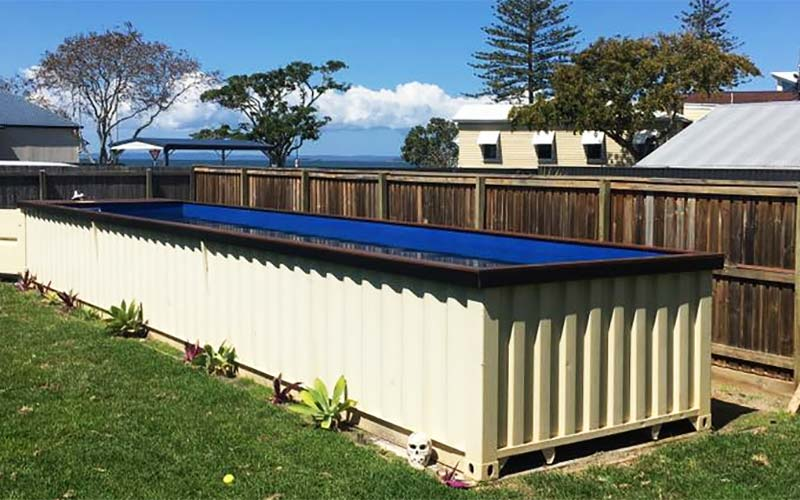 shipping container pool above ground