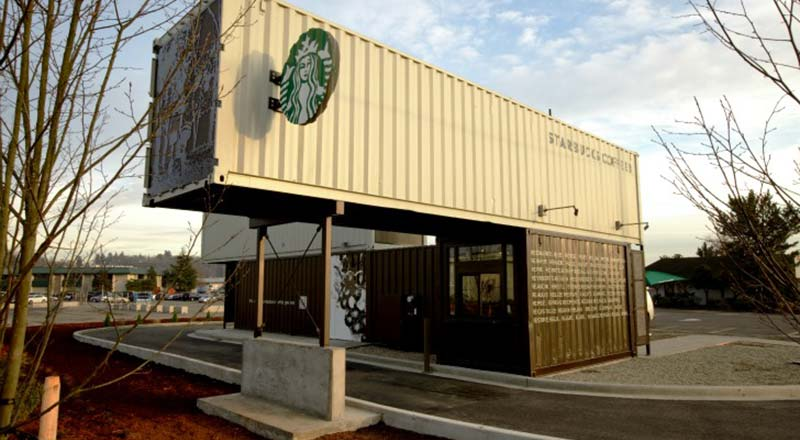 starbucks reclamation drive thru coffee shop container