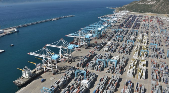 shipping port tanger med morocco