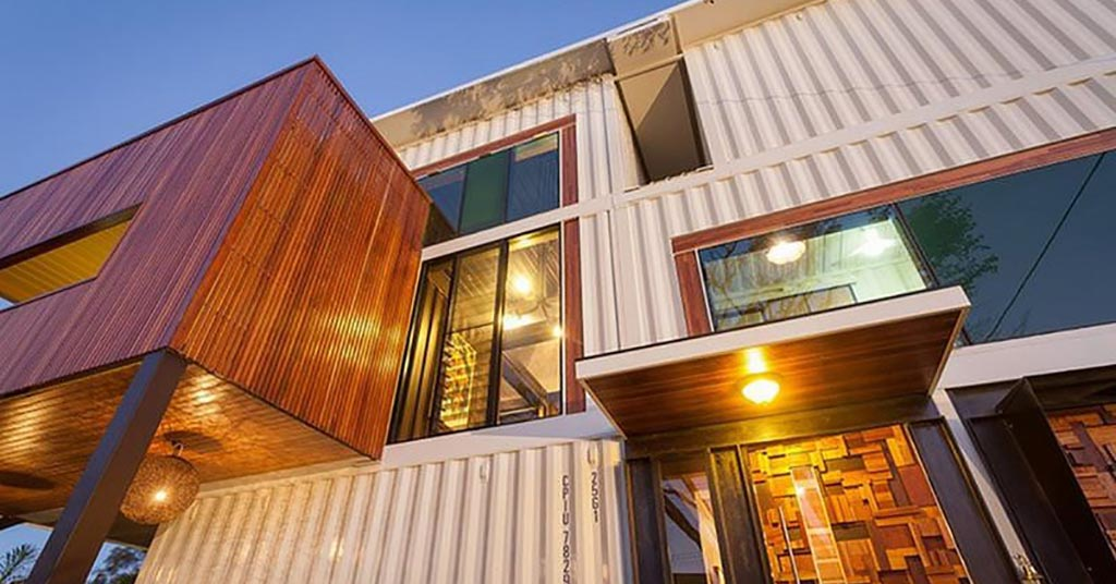 Graceville mansion shipping container modern elegant