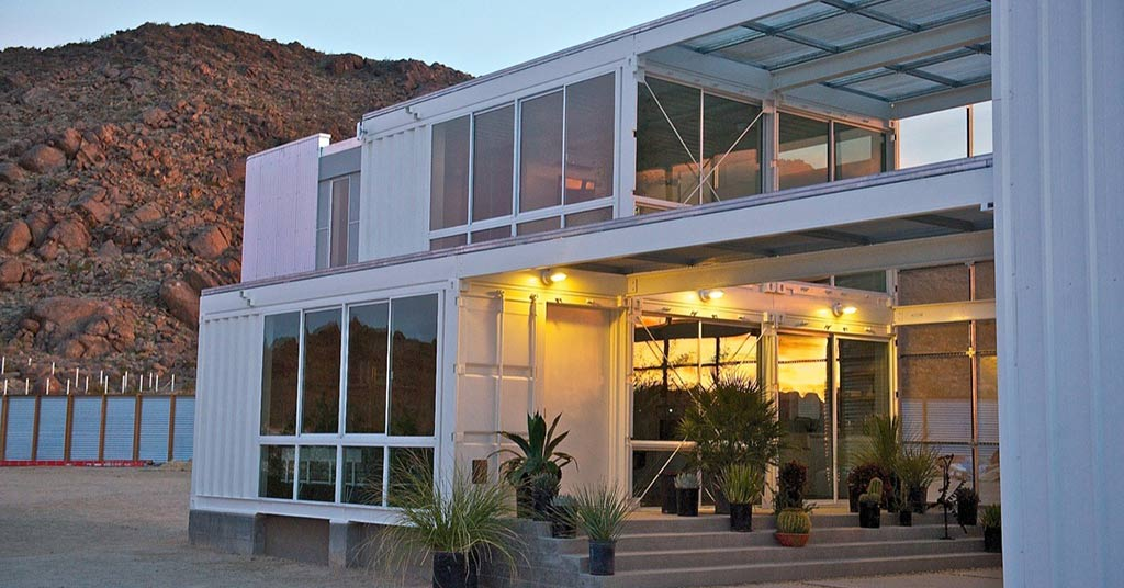 mojave desert shipping container home design steel mansions