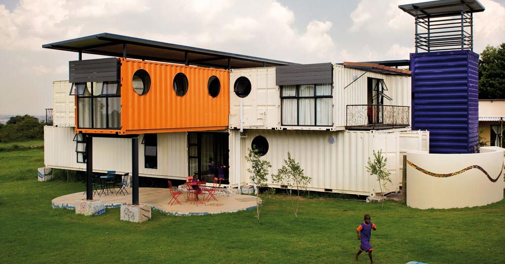 New Jerusalem Children's home shipping container mansion