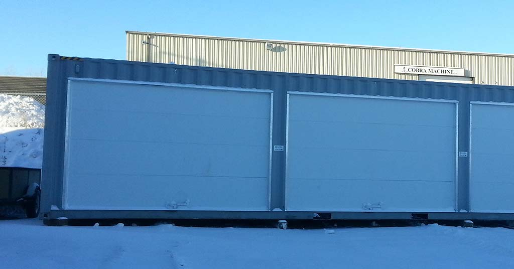 shipping container conversion garage carport