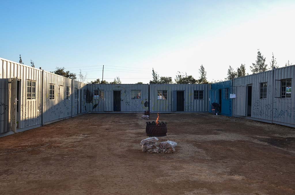 mandela day big box containers before painting