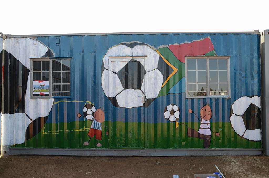 painting containers mandela day