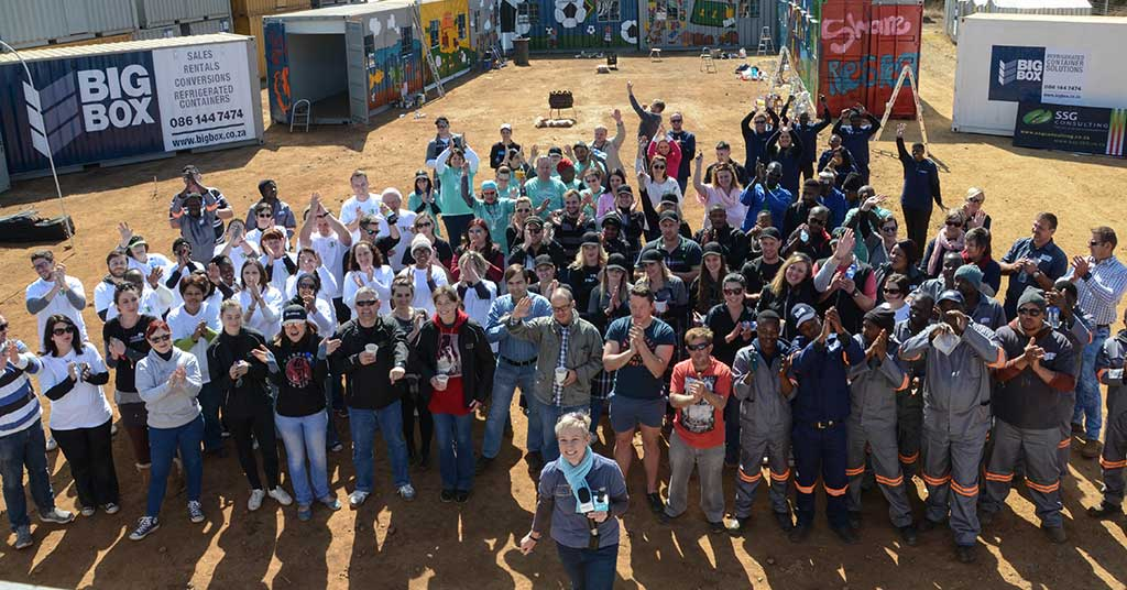 big box containers mandela day