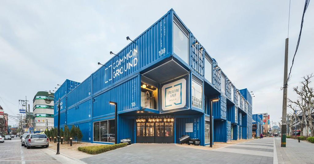 shiiping container shopping centres common ground