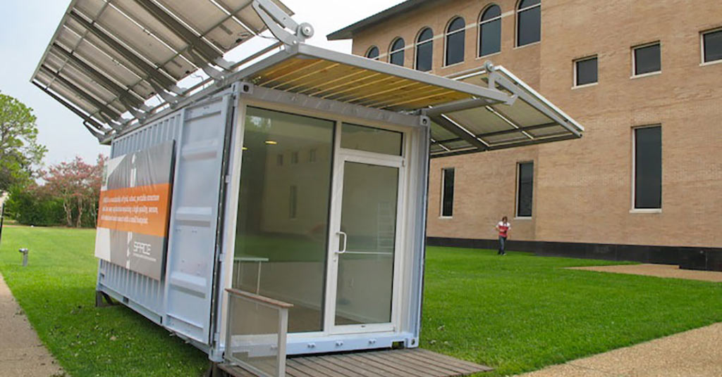 Space solar-power shipping container