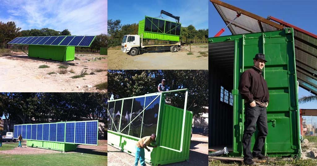 Solar-Power Shipping Containers