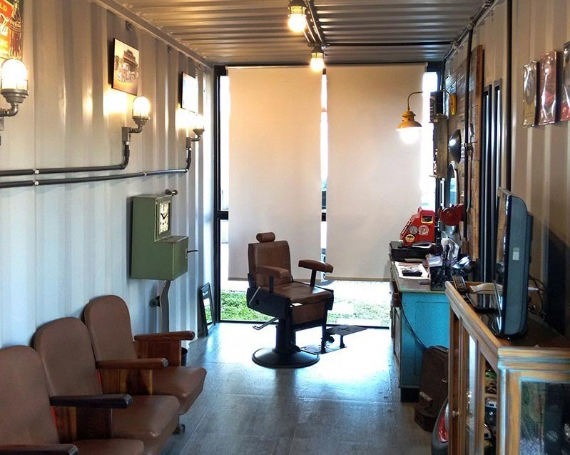 shipping container hair salons