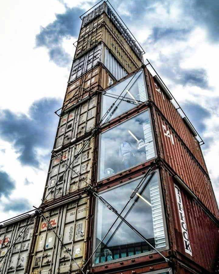 world's tallest shipping container structure